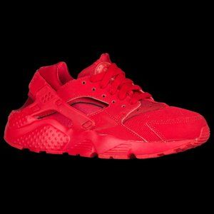 Nike Air Huarache Run Red Sneakers Boys Size 3Y